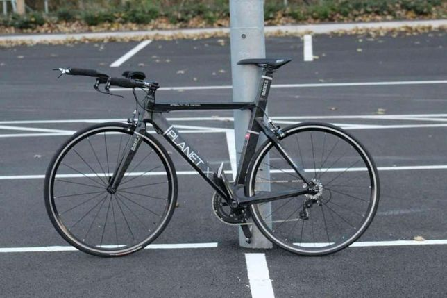 Cursiera carbon full, Planet XTT Triatlon Stealth Pro, bicicletă, bike