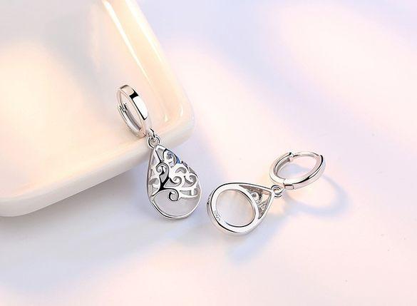 Стилни сребърни обеци с опал12