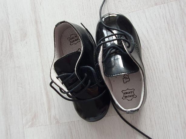 Pantofi din piele naturală locuită Otter marime 23