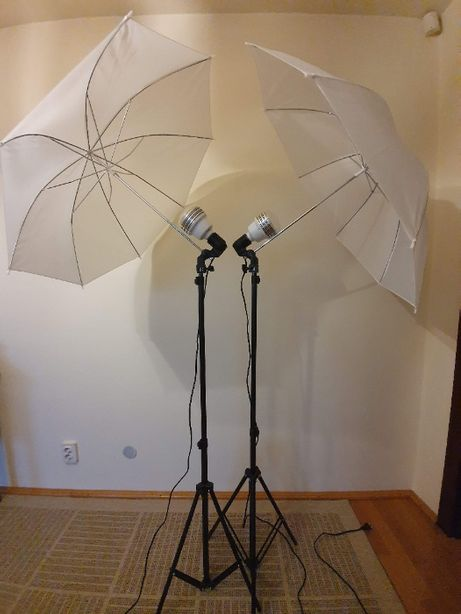 kit lumini studio foto video stative cu umbrele bec LED 50w ventilatie