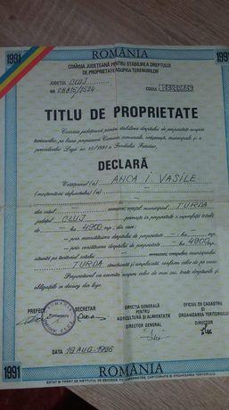 Teren de vânzare în Polonia Turzii județul Cluj