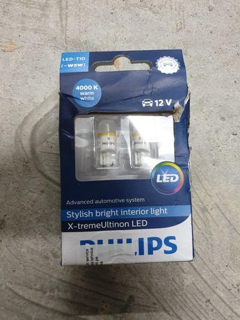 Philips leduri w5w / T10 4000k