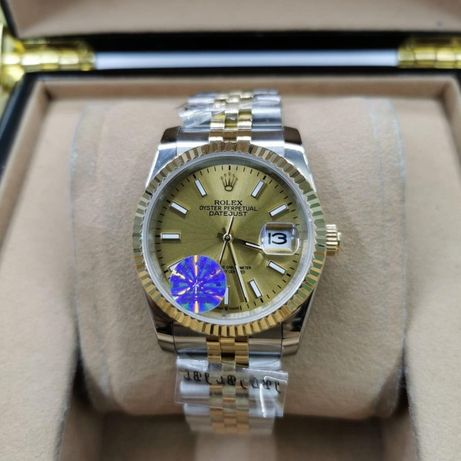 Rolex Datejust 36MM Silver Gold 02