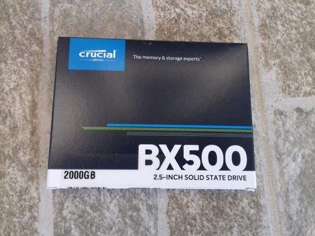 Ssd 2tb crucial bx 500 nou sigilat box , de 2.5 -ideal mac, laptop
