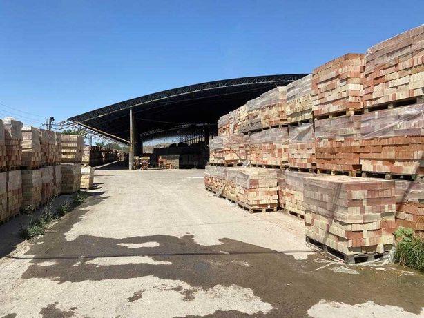 Кирпич красный керамический заводской без соли