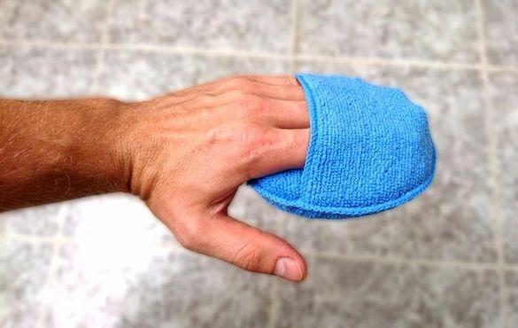 Микрофибърна ръкохватка тампон за почистване и полиране на кола