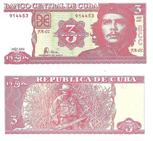 Super bancnota necirculata 3 pesos Cuba 2004 Ernesto CHE Guevara