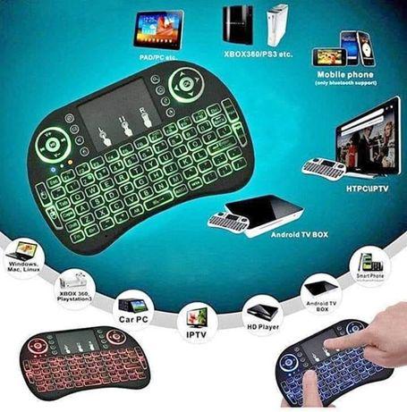 Мини Светеща безжична клавиатура за Android PC или TV Box Mini Keyboar