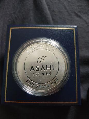 Сребърна монета Асахи .999