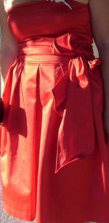 Елегантна сатенена рокля Zara