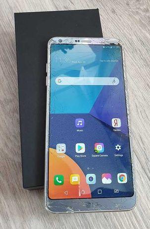 продам смартфон LG G6 4/64Gb LTE (трещины на стеклах)