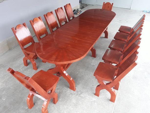 """""""Soreanca 12 pers."""" Set masa cu 12 scaune / masa cu bancute"""