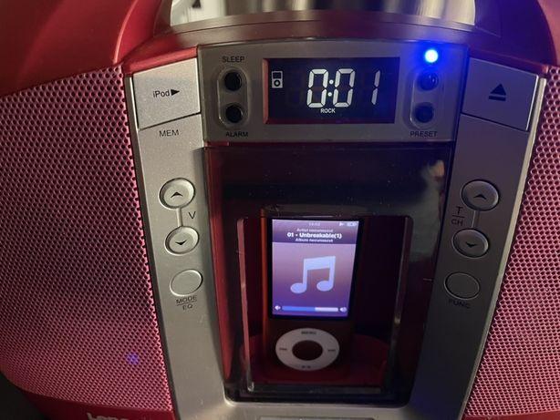 Boxe Lenco cu conector pentru ipod, radio FM si intrare aux