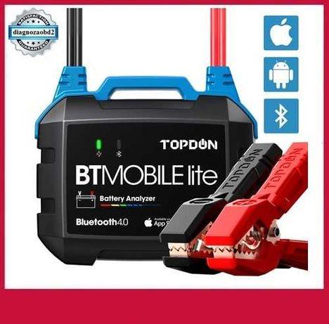 Tester baterii auto TOPDON BT Mobile Lite , voltaj 100 -2000CCA