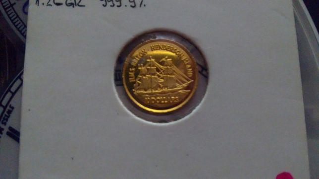 Moneda aur 24k. 1.26 grame