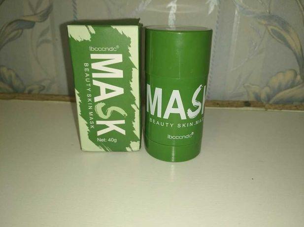 Маска от прыщей с зеленым чаем. Зеленая маска от черных точек, акне.