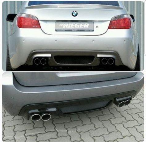 Добавка за задна броня (спойлер) за М пакет БМВ BMW 5 E60