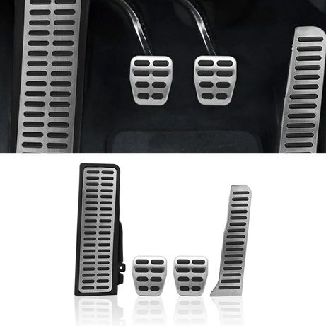 Ornament pedale inox footrest Vw Golf 5 Touran Tiguan Audi a3 Octavia