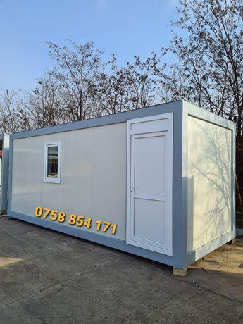 Containere container birou sanitar șantier paza vitrina