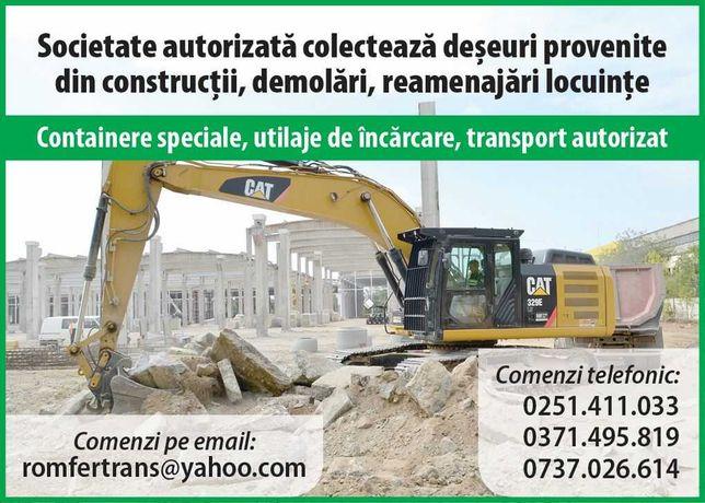 Colectare deseuri din constructii si demolari