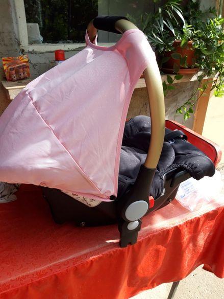 Кошница за кола - кошче Chipolino Сенси розово 0-13 кг