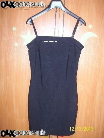 Елегантна черна къса еластична рокля-м-л размер