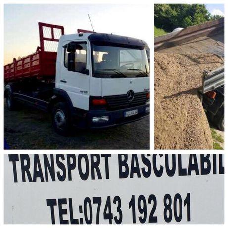 TRANSPORT Marfa Basculabil 7.5 T(4mc):nisip,sort,piatra,drenaj,pamant