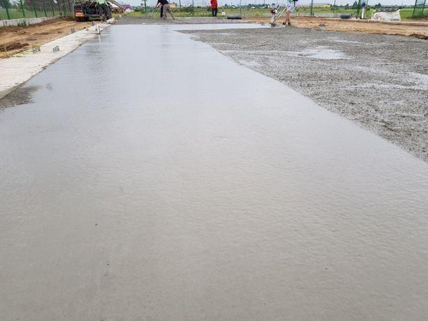 Beton elicoperizat, turnare beton