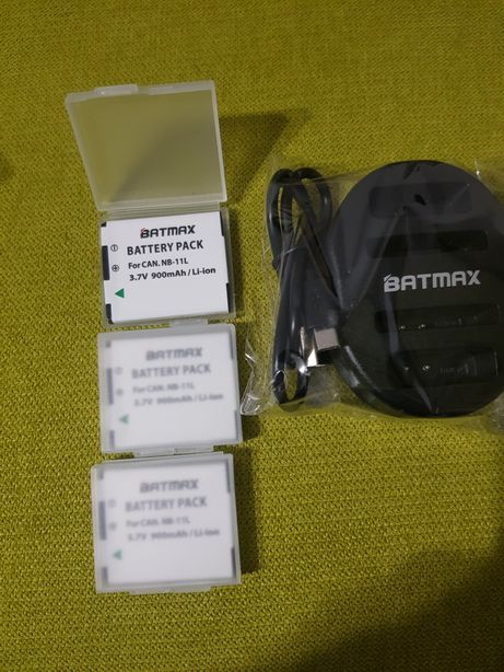 Set 3 baterii Nb-11L + Incarcator Batmax