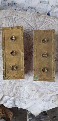 Intrerupator vechi din bronz