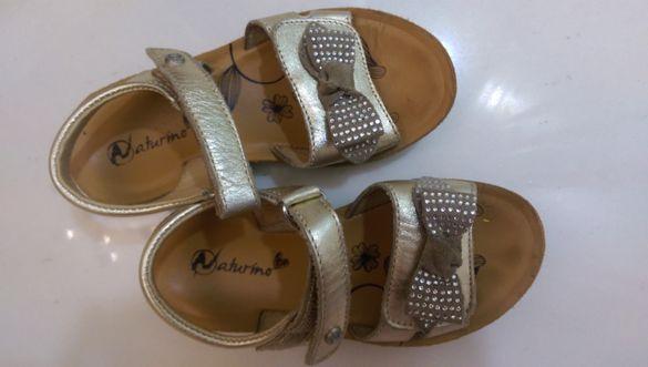 Кожени сандали за момиче Naturino - 27 номер