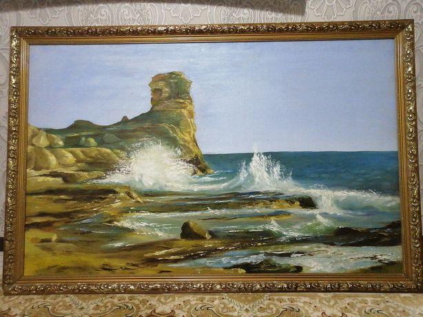 Картина ручная работа на холсте размер 1 метр х 1.5 метр.