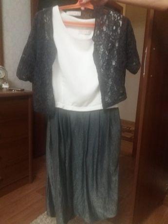 Платье с накидкой 44 размера