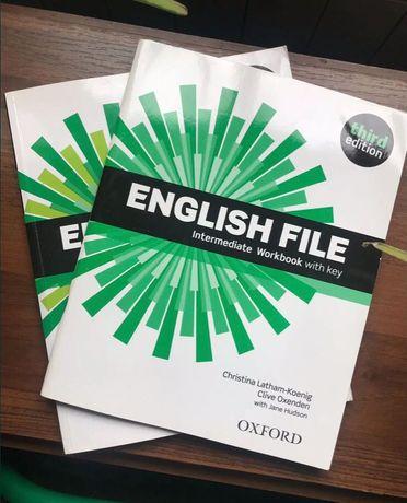 English new file тетрадь и книга