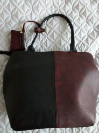Чанта в два цвята