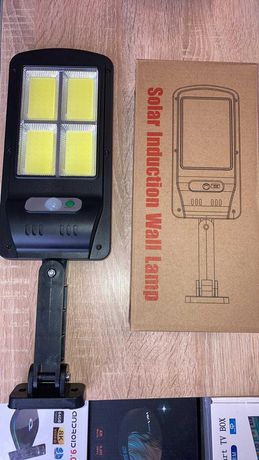 Соларна LED лампа със сензор за движение 120W