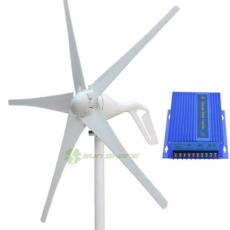 Нов ветрогенератор 400w - 600w 12v турбина перка вятърен генератор