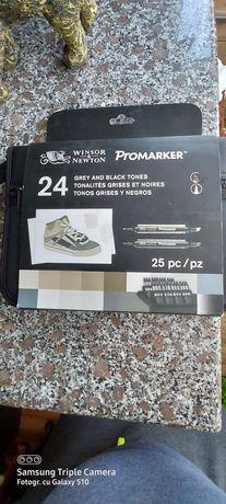 Markere set de 24 promarker winsor&newton gry și negru