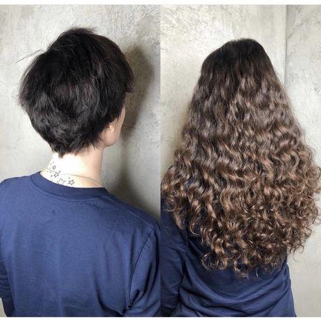качественное наращивание волос  всего за 20 000 тг