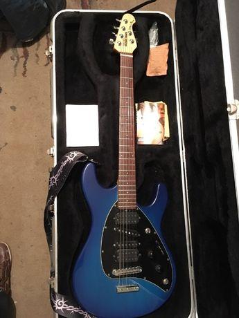 Ernie Ball Music Man Steve Morse Signature Electric Guitar Blue Burst