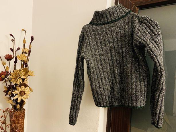 Pulover de tip helanca gri ( lana )