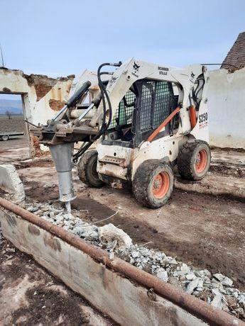 Servicii Bobcat cu picon, miniexcavator, transport cilindru compactor