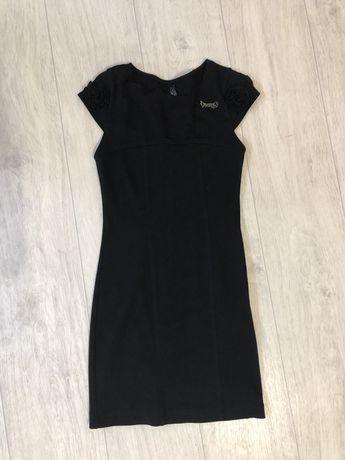 Платье черное мини