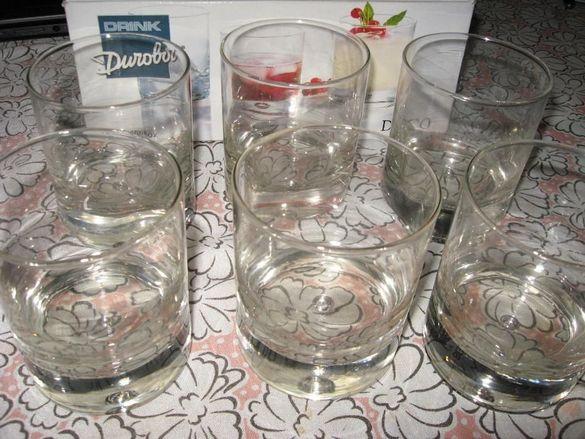 Чаши за уиски и стъклена купа