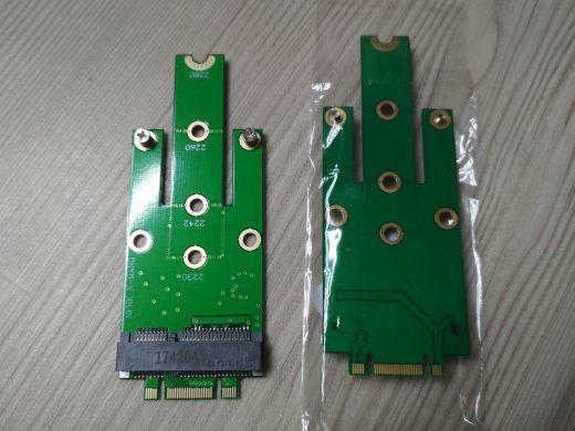 Продавам преходници за SSD дискове msata и m.2 ngff