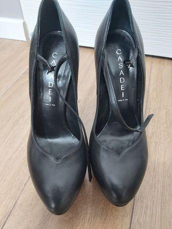 Sandale piele naturala platforma Casadei model Queen Selene