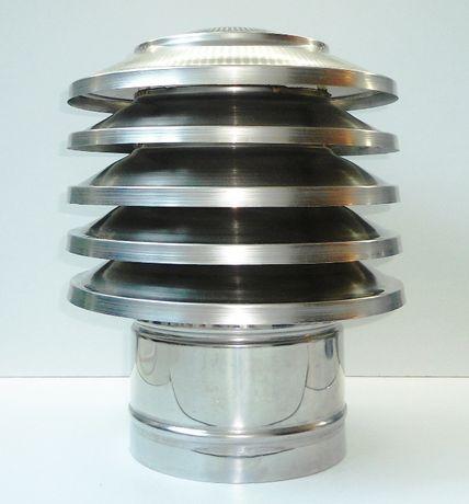 Шапка за комин тип Пагода, коминна шапка - ИНОКС за кръгъл комин