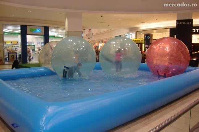 Bile de mers pe apa si piscine gonflabile -baloane pe apa, bule pe apa