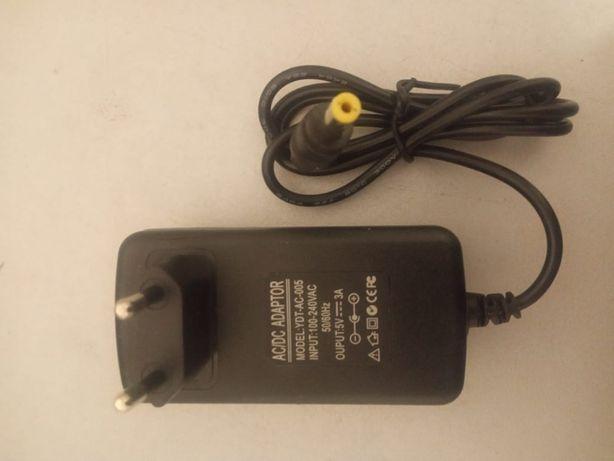 AC/DC Adaptor блок питания 5V 3A (5 вольт 3 ампера)