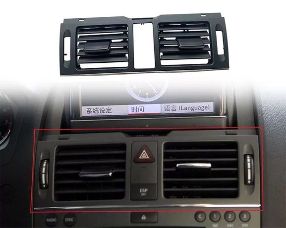 Въздуховод решетка Mercedes benz C class W204 климатик мерцедес духалк